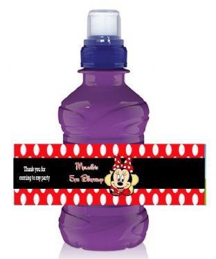 Minnie Mouse Red Bottle Label Wrapper.